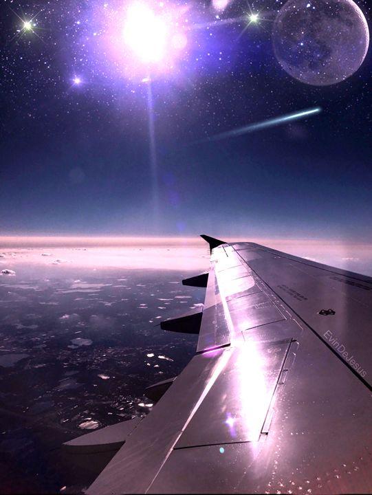 Flying Along The Purple Skies - Evin DeJesus Art Gallery