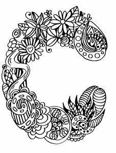 """Alphabet """"C"""" doodle art"""