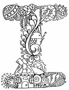"""Alphabet"""" I """" doodle art"""