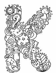 """Alphabet """" K """" doodle art"""