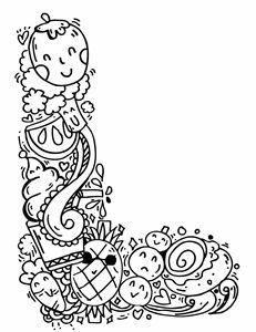 """Alphabet """" L """" doodle art"""