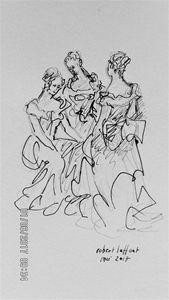 three women in early XIX