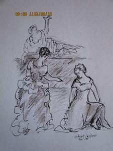 three  women in XVIII th century