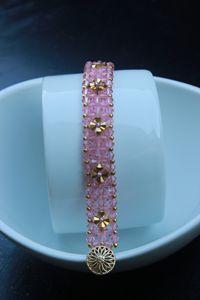 Pink Crystal Tennis Bracelet