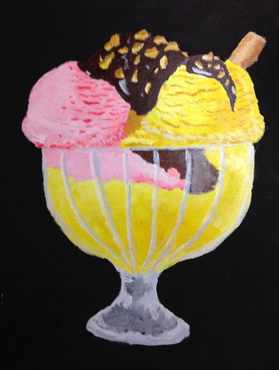 Ice Cream Sundae - Hannah Feinsilber's Art
