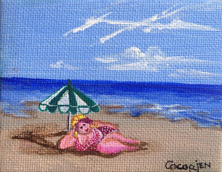 """""""Bathing Belle"""" - Art by Jenoire"""