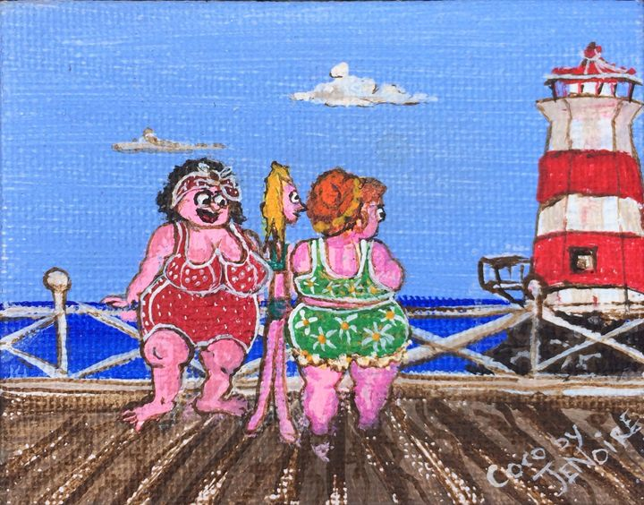 """""""Lighthouse ladies"""" - Art by Jenoire"""