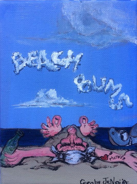 """Beach bums "" - Art by Jenoire"