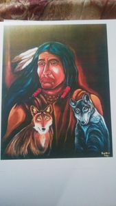 Indian and Wolves for sale