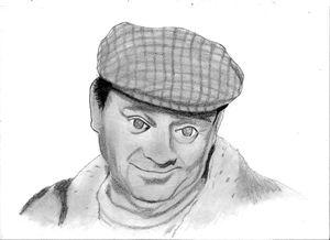David Jason (Del Boy) pencil drawing