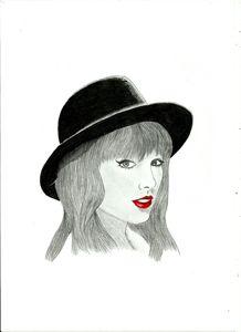 Taylor Swift - pencil drawing