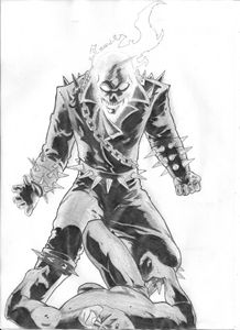 Ghost rider - pencil drawing