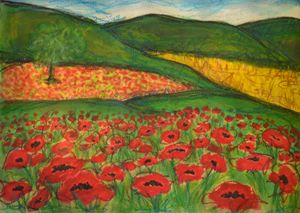 Poppy Field Left