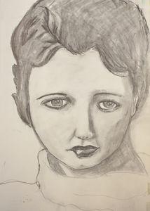 Vintage Lady Pencil Sketch