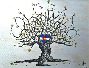 Colorado Flag Love Tree