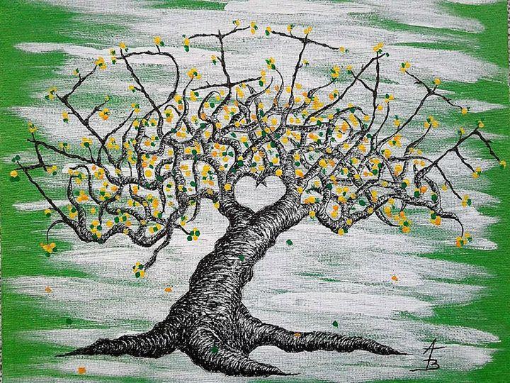 Meditate Love Tree - Love Tree Art Collection