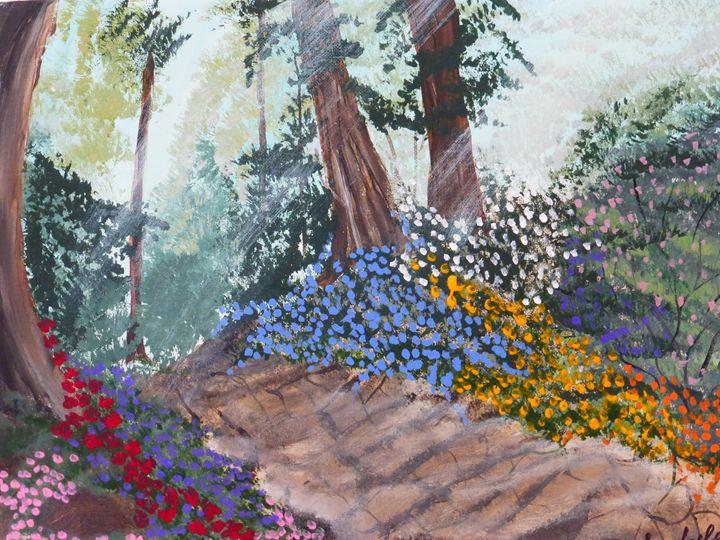 Garden Path - Paintings by K. Scofield