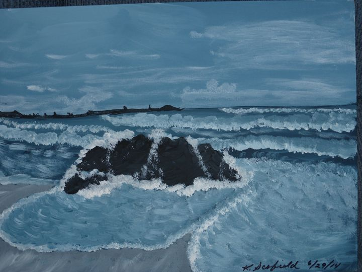 Waves on the Shore - Paintings by K. Scofield