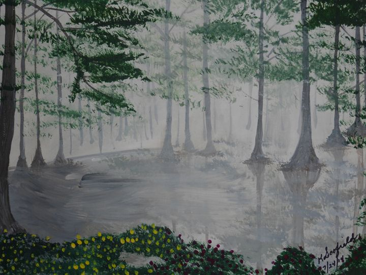 Swamp Garden - Paintings by K. Scofield
