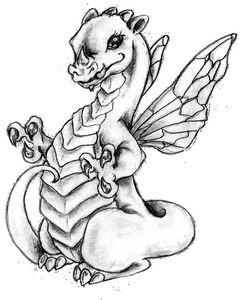 Baby dragon blk & grey