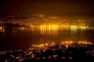 Vigo at night (Galicia - Spain)