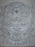 inked drawing