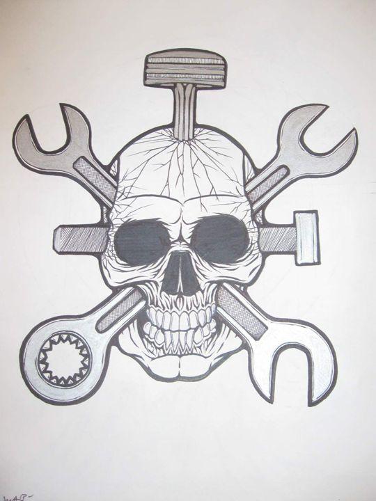mechanic skull - VADR-visceral art and design