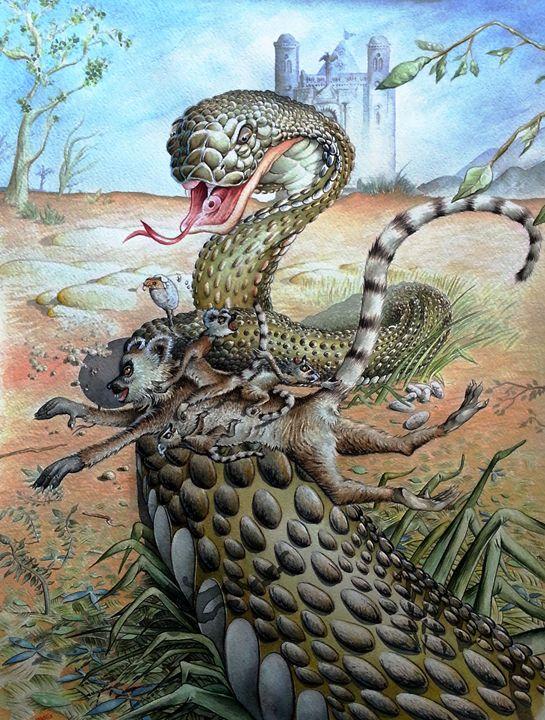 Lemurs and snake 1 - Wag