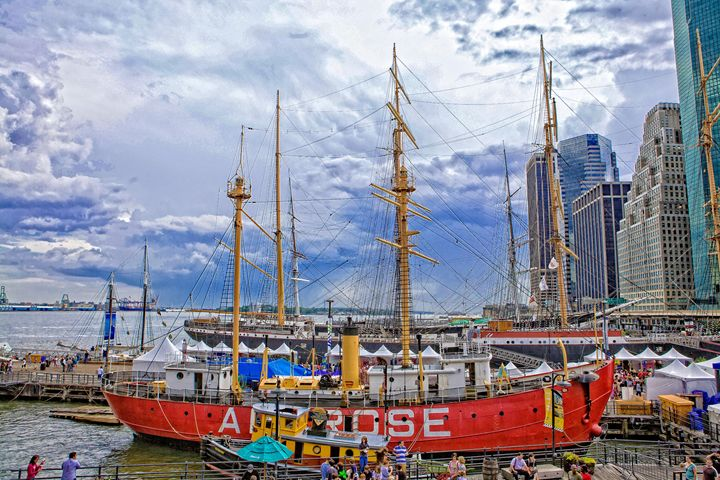 Ships at South Street Seaport NYC - debchePhotography