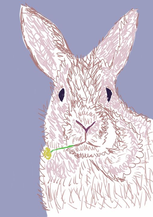 Bunny eating straw - Kitty's Design