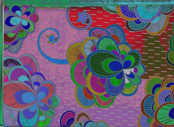Fantasy with flowers - Vanessa Schlachtaub Bruni