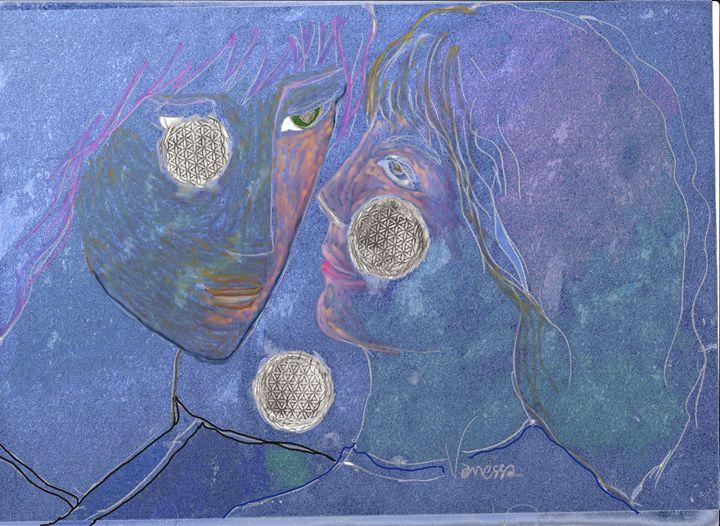 Neptune and Consort the Queen Maya - Vanessa Schlachtaub Bruni