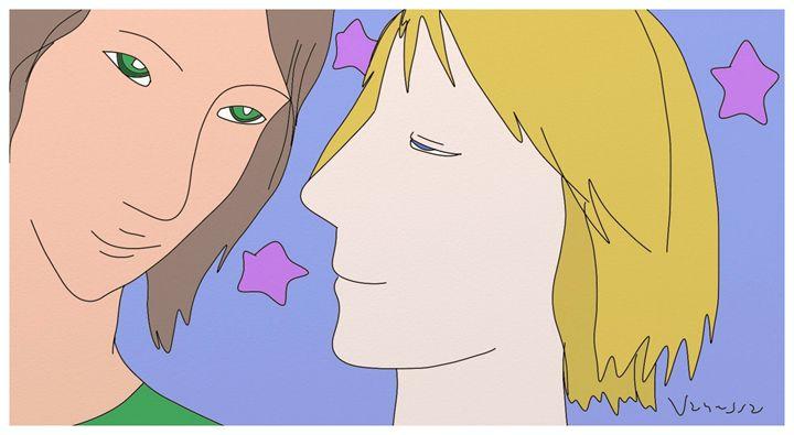 Divine Couple with Stars - Vanessa Schlachtaub Bruni