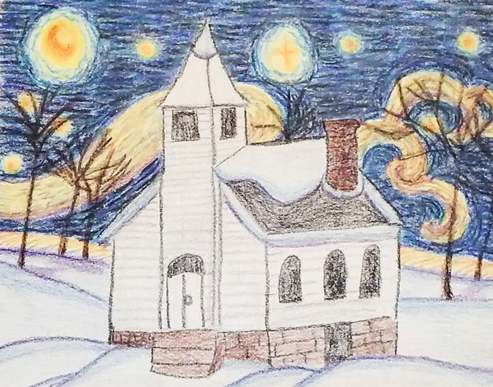 Starry Night at Church - M.Y.Hauger