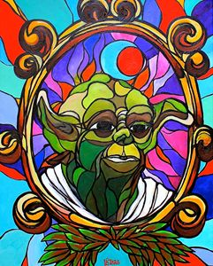 Stained glass Yoda