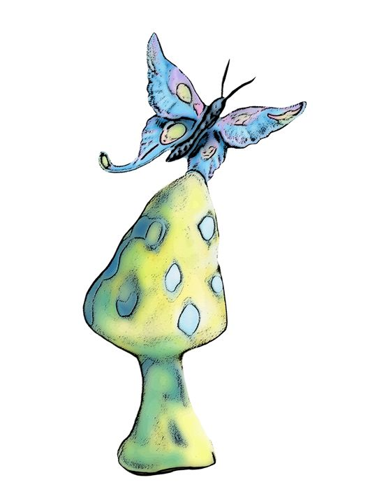 Blue Butterfly Flyby - Prints from Creation Creatures