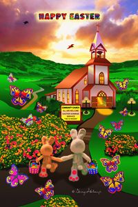 ART - APRIL EASTER SPRING POSTER