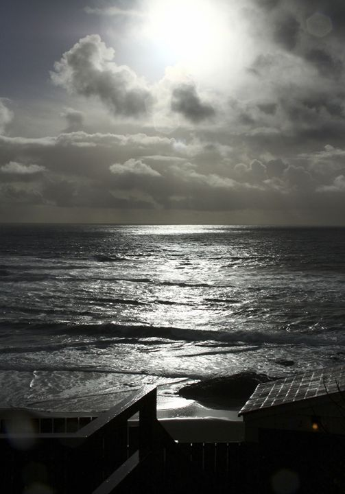 Ocean Waves in the Moonlight - Gerry Slabaugh Photography