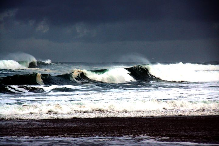 Stormy Wind Swept Ocean Surf - Gerry Slabaugh Photography