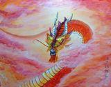 11x14 ink dragon