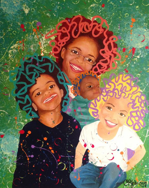 Children at Play - Christie Pheona Lathan Art For You