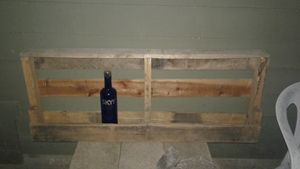 RUSTIC BOOZE/WINE BOTTLE WOOD SHELF - Islandtreasures247