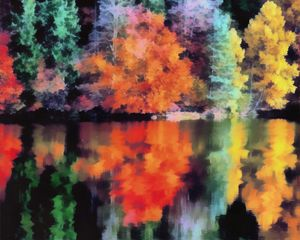 Colourfull trees