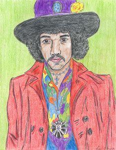Jimi Hendrix - Leon Maiolo Art