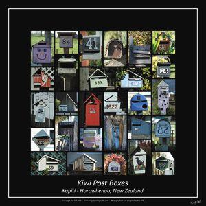 Kiwi Post Boxes - square