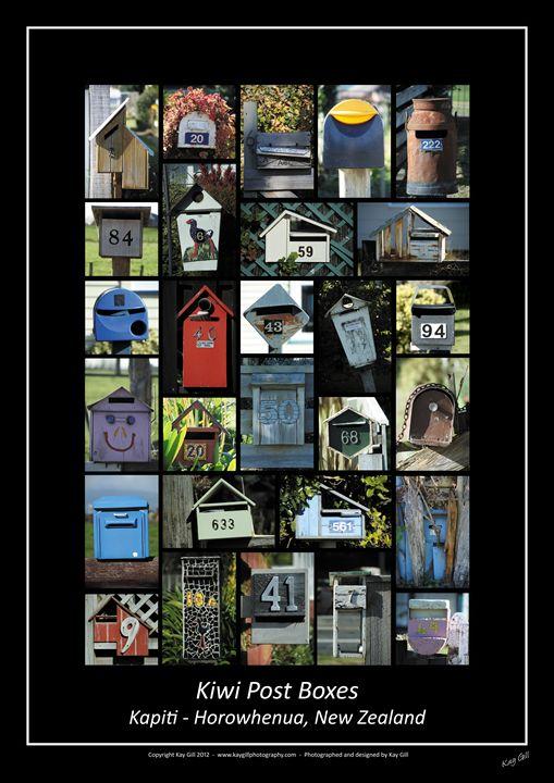 Kiwi Post Boxes - Kay Gill