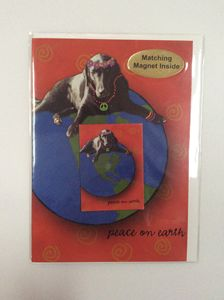 Dog's Peace with matching magnet