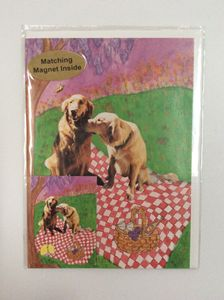 Dog's Picnic with matching magnet