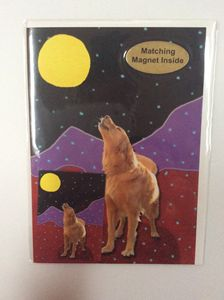 Barking Moon with matching magnet