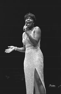 Singer Natalie Cole BW Photo - Front Row Photographs